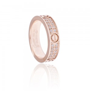 "Кольцо Cartier ""Diamond Band Ring (rose gold)"""
