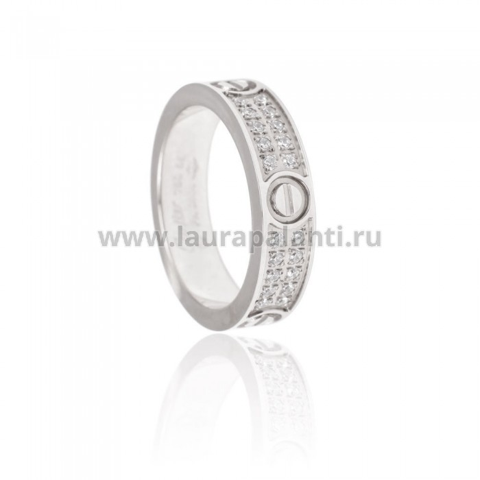 "Кольцо Cartier ""Diamond Band Ring (white gold)"""