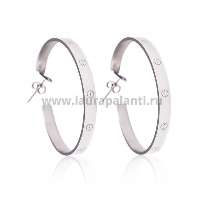 "Серьги Cartier ""Love Earrings (white gold)"""