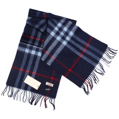 "Кашемировый шарф Burberry ""Cashmere Dark Navy"""