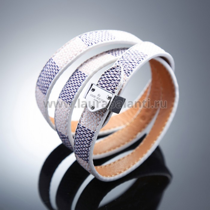 "Браслет Louis Vuitton ""Nano Damier bracelet"" white gold"